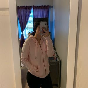 Hollister Full-Zip Sweater (Pink)
